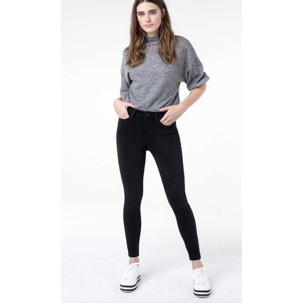 Liverpool Jeans Abby Hi Rise Black Denim Ankle Length Jeans
