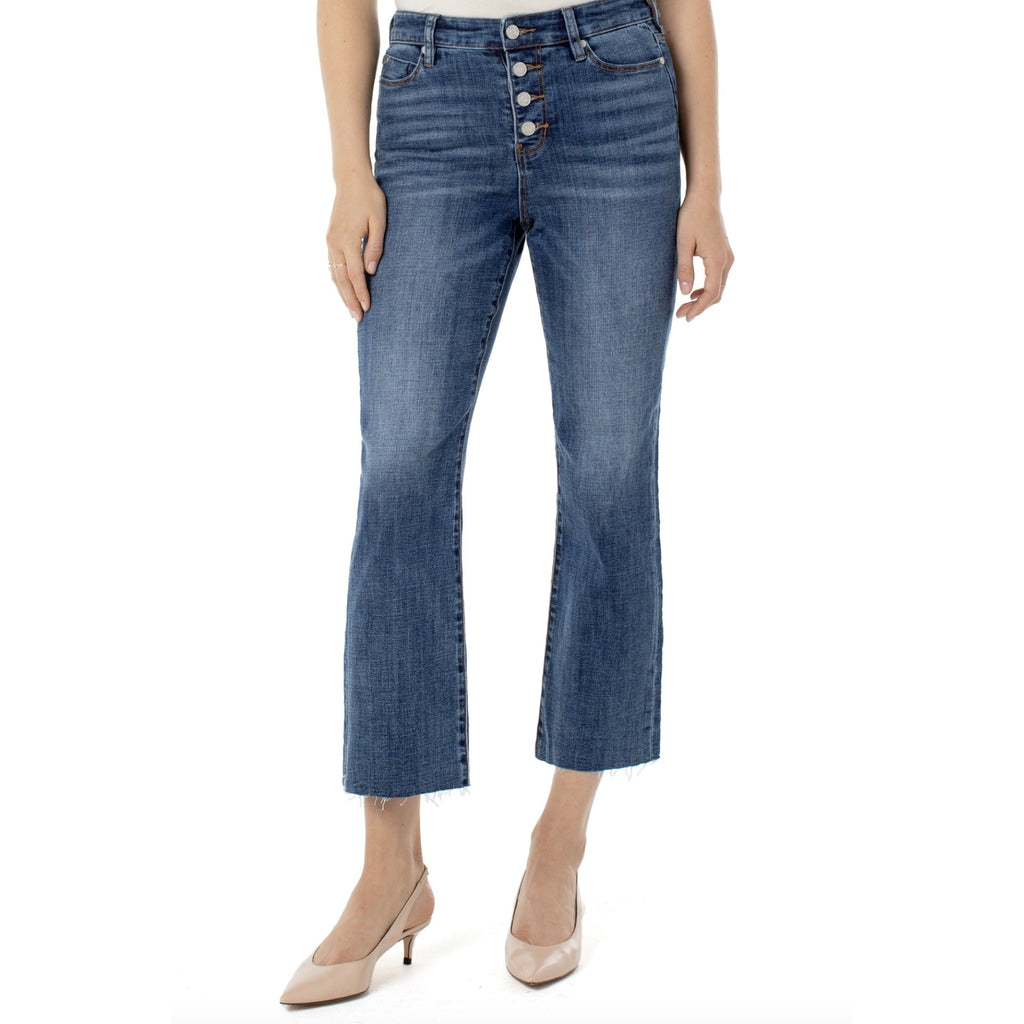 Liverpool Jeans Stevie High Rise Stovepipe Crosshatch Jeans