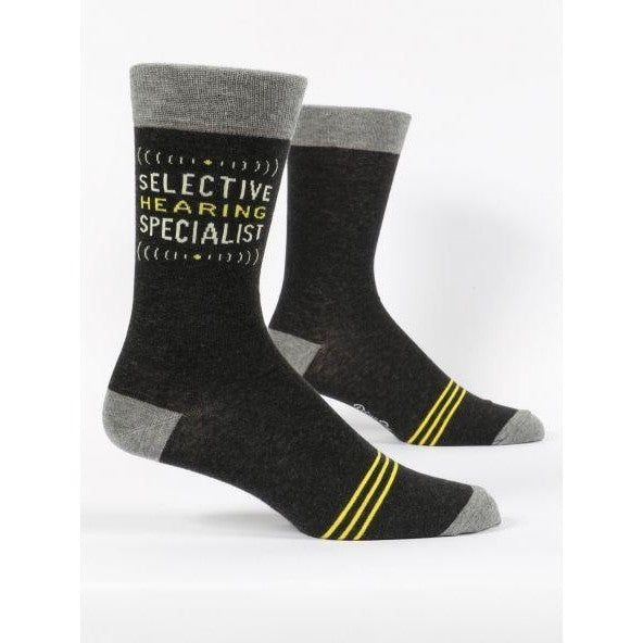 Blue Q Mens Socks Selective hearing specialist
