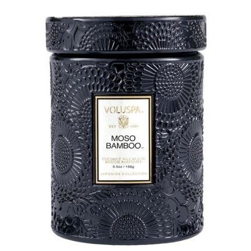 Voluspa Moso Bamboo 5.5 oz Glass Jar Candle