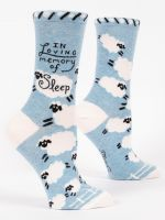 blue q womens socks in loving memory of sleep