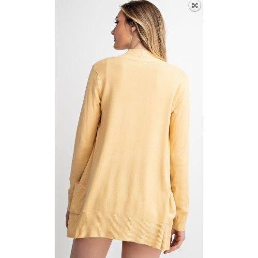 Open Front Cardigan in Buttercup