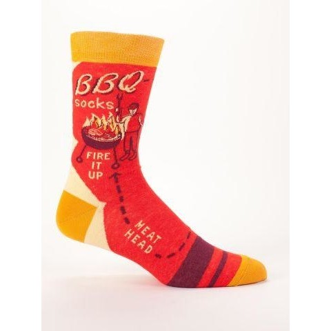 Blue Q mens socks BBQ Fire it up