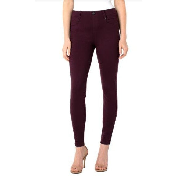 Liverpool jeans gia glider knit pull on aubergine