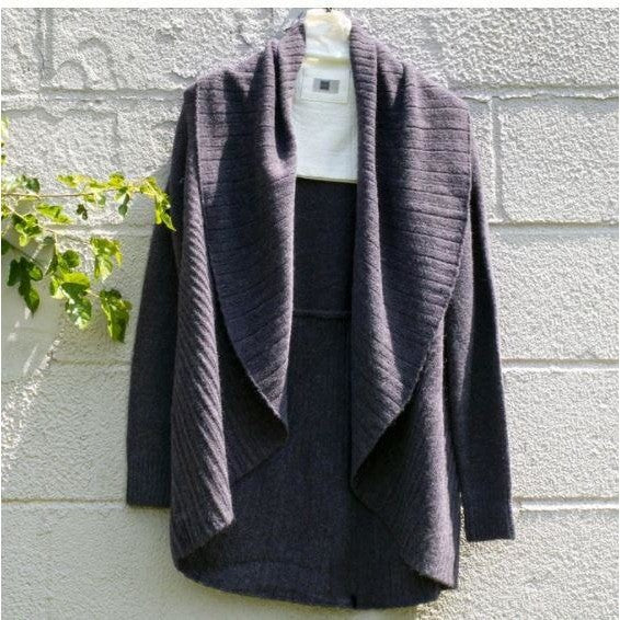 Look by M Heater Pleas Shawl Cardigan Sweater