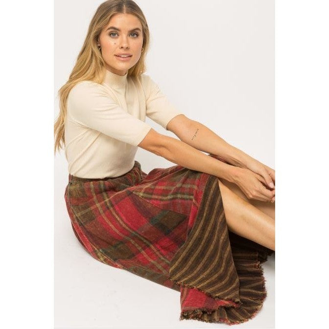 Double Plaid skirt