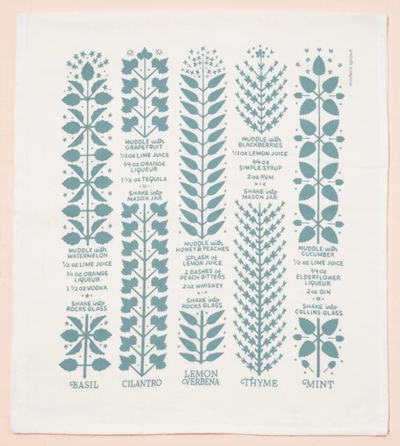 Boozy Botanicals Tea Towel