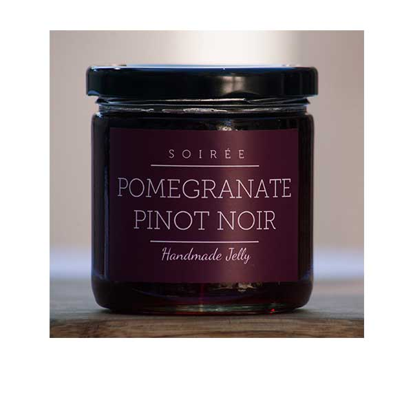 Soiree Wine Jelly Pomegranate Pinot Noir