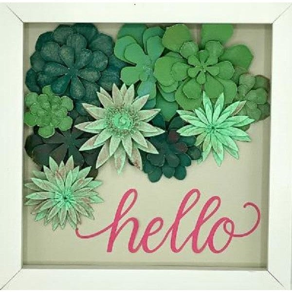 Paper Art Succulent Shadow Box - August 13th - 6PM