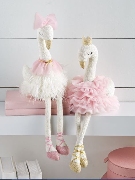 MudPie Plush Swan - Pink or White