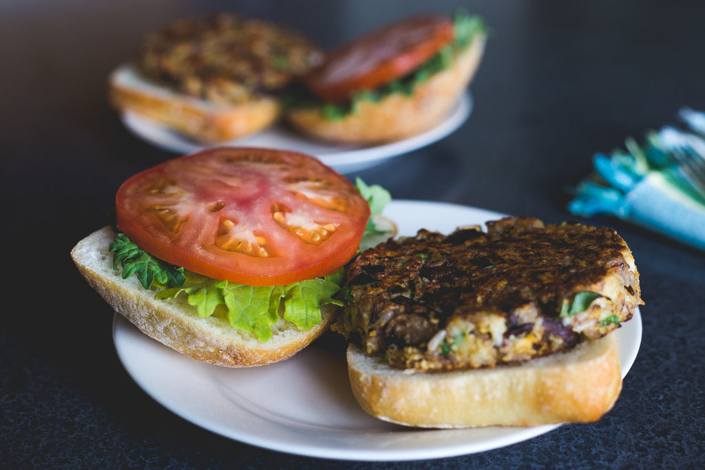 Mushroom and Wild Rice Veggie Burger