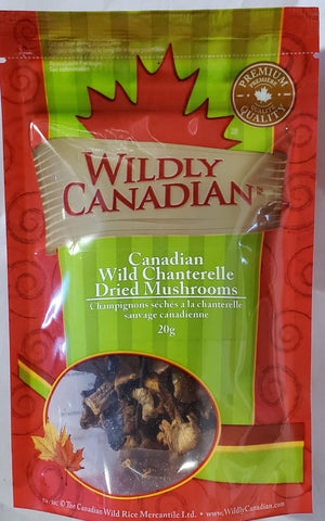 Canadian Wild Chanterelle Dried Mushrooms
