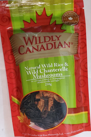 Natural Canadian Wild Rice & Wild Chanterelle Mushrooms