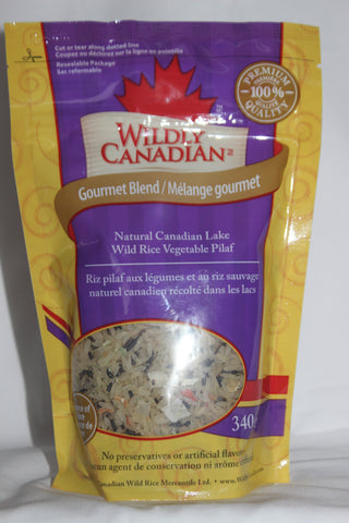 Canadian Natural Wild Rice Vegetable Pilaf (340g) - The Canadian Wild Rice Mercantile Ltd.