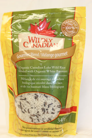 Organic Canadian Lake Wild Rice Blended With Organic White Basmati - The Canadian Wild Rice Mercantile Ltd.
