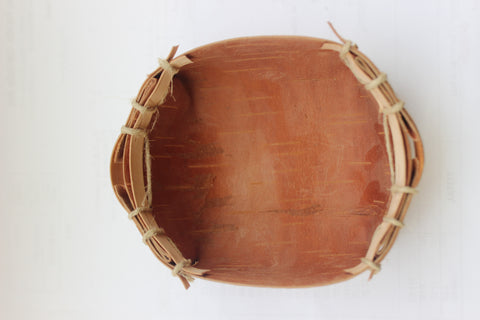 Traditional Hand Crafted Birch Bark Basket - The Canadian Wild Rice Mercantile Ltd.