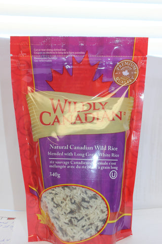 Natural Canadian Wild Rice Blended with Long Grain White Rice - The Canadian Wild Rice Mercantile Ltd.