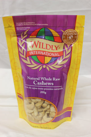 Natural Whole Raw Cashew - The Canadian Wild Rice Mercantile Ltd.