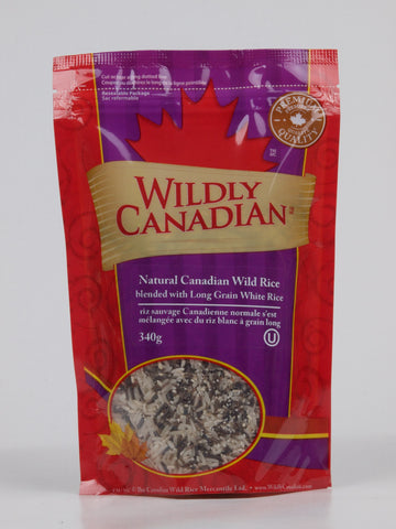 Natural Canadian Lake Wild Rice Blended with Brown Basmati - The Canadian Wild Rice Mercantile Ltd.