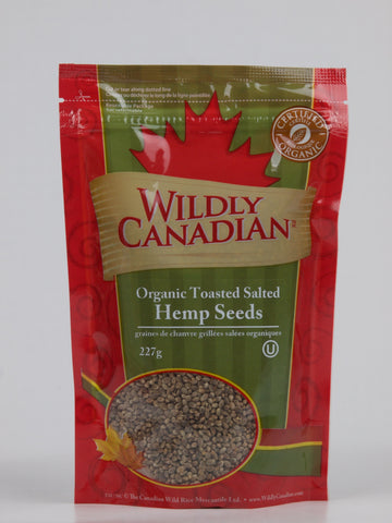 Organic Toasted Salted Hemp Seeds (227g) - The Canadian Wild Rice Mercantile Ltd.