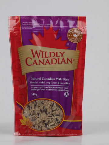 Natural Canadian Wild Rice Blended with long Grain Brown Rice - The Canadian Wild Rice Mercantile Ltd.
