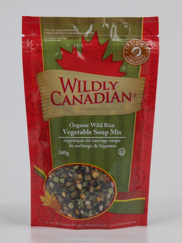 Organic Wild Rice and Vegetable Soup Mix - The Canadian Wild Rice Mercantile Ltd.