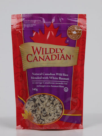 Natural Canadian Wild Rice Blended With White Basmati (340g) - The Canadian Wild Rice Mercantile Ltd.