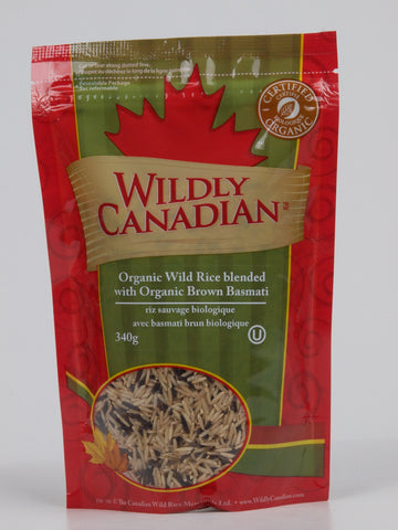 Organic Wild Rice Blended With Organic Brown Basmati - The Canadian Wild Rice Mercantile Ltd.