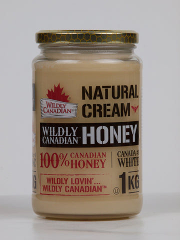 Non-pasteurized Natural Cream Honey (500g/1 kg) - The Canadian Wild Rice Mercantile Ltd.