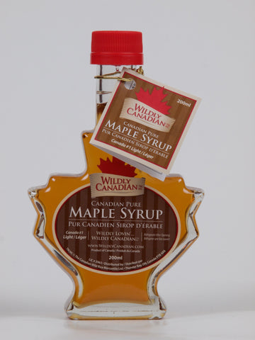 100% Pure Canadian Maple Syrup (Maple Leaf Bottle) Perfect for gift - The Canadian Wild Rice Mercantile Ltd.