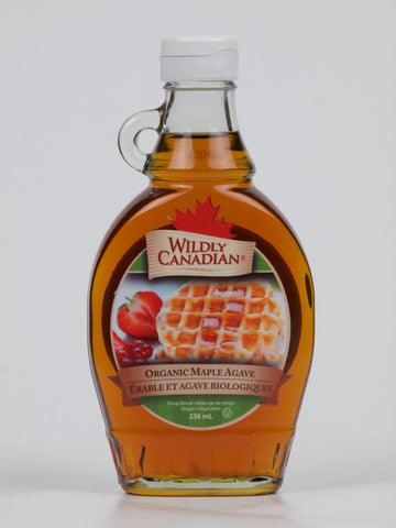 Organic Maple Agave Syrup Made up with Organic Maple Syrup (250ml) - The Canadian Wild Rice Mercantile Ltd.