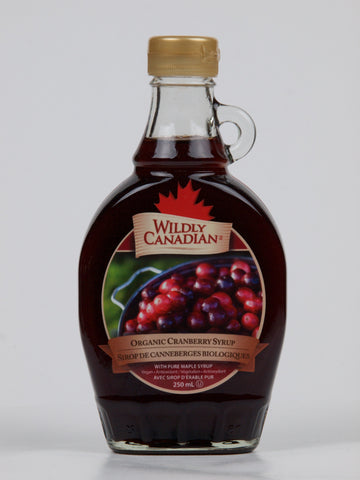 Organic Cranberry Syrup Made With Pure Organic Maple Syrup (250ml) - The Canadian Wild Rice Mercantile Ltd.