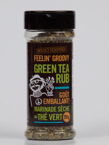 Wildly Seasoned Feelin' Groovy Green Tea Rub - The Canadian Wild Rice Mercantile Ltd.
