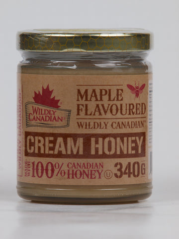 Non-pasteurized Maple Cream Honey - The Canadian Wild Rice Mercantile Ltd.
