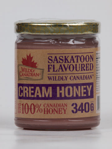 Non-pasteurized Saskatoon Cream Honey - The Canadian Wild Rice Mercantile Ltd.