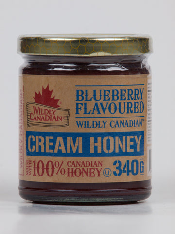 Non-pasteurized Blueberry Cream Honey - The Canadian Wild Rice Mercantile Ltd.