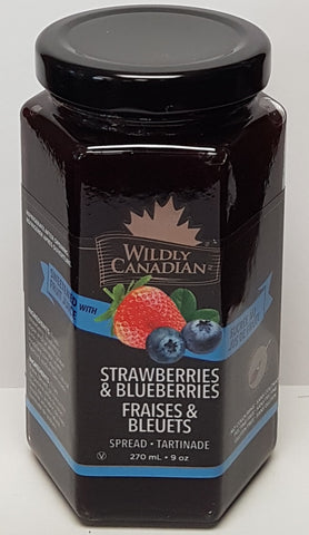 Strawberries & BlueBerries Spread (sweetened with real fruit juice)