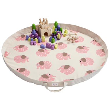 3 Sprouts Play Mat - Pink Elephants