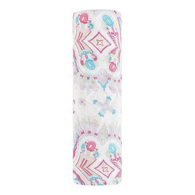 Aden + Anais Bamboo Swaddling Wrap - Flower Child Kaleidoscope