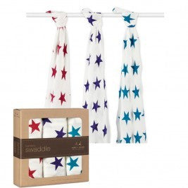 Aden + Anais Bamboo Swaddling Wraps - Celebration 3 pack