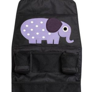 3 Sprouts Back Seat Organizer - Purple Elephant