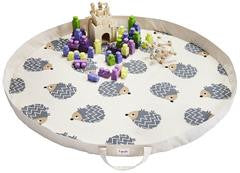 3 Sprouts Play Mat - Grey Hedgehog