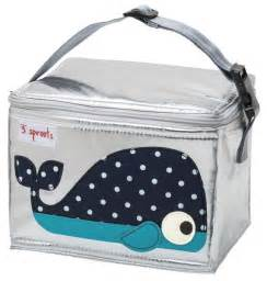 3 Sprouts Lunch Bag - Whale