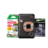 Cámara instax mini LiPlay negra + SD 16GB + 2 pack