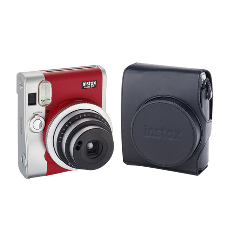 Cámara Fujifilm Instax Mini 90 Red + Funda