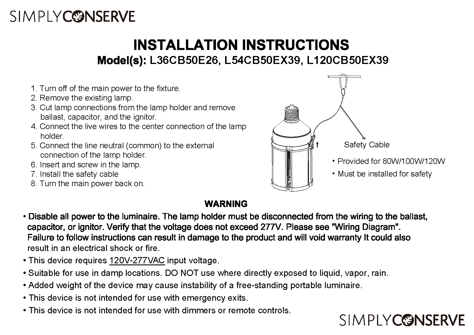 Install Instructions Page 1