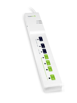 A white TrickleStar Tier 1 Advanced Power Strip