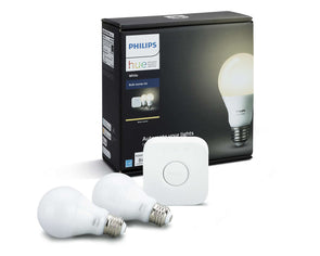 Philips Hue: A19 Starter Kit - 60W equiv. - 2,700K White (2-Pack)