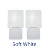 "Two night lights labeled ""Soft White"""