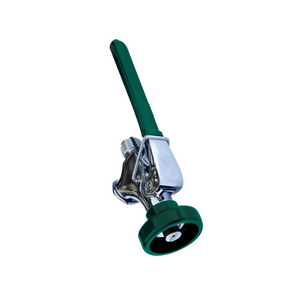 A green and chrome spray valve